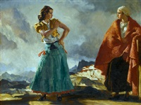 raquel and manuela by william russell flint