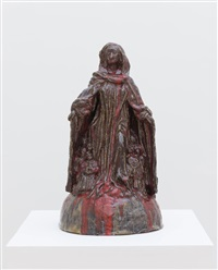 madonna of protective cloak from ravensburg (after michel erhart or fredrich schramm) by paulina olowska