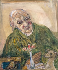 mother in green dressing gown by marie-louise von motesiczky