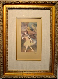 two ballerinas dancing by edgar degas