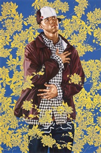 after titian's (tiziano vecellio) penitent mary magdalene by kehinde wiley