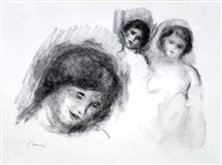 la pierre au trois croquis (the stone with three sketches) by pierre-auguste renoir