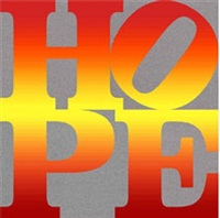 four seasons of hope book (silver), i – iv by robert indiana