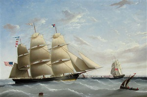 clipper empress of the seas off england by j. l. tudgay