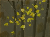 yellow leaves #5 by alex katz