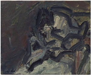 gerda boehm (leaning on her hand) by frank auerbach