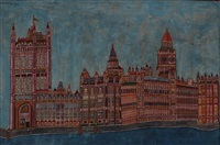the house of parlament from the river by emerik fejes