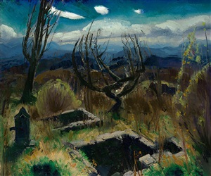 deserted farm, no. ii by george wesley bellows