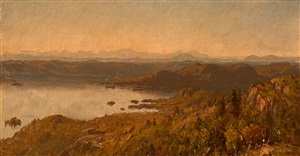 lake george from buck mountain by sanford robinson gifford