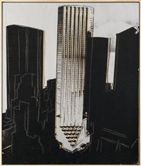 new york skyscrapers by andy warhol