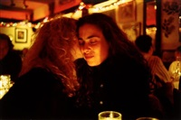 lynette & donna at marion's restaurant, nyc by nan goldin