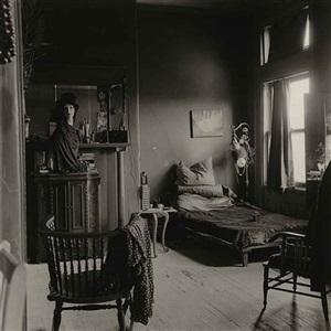nancy bellamy's bedroom, n.y.c. by diane arbus