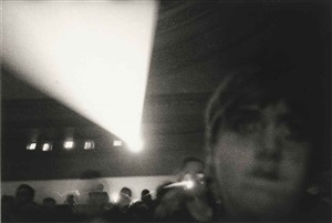audience with projection booth, n.y.c. by diane arbus