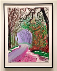 the arrival of spring in woldgate, east yorkshire in 2011 by david hockney