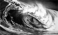 monster wave ( godzilla) by robert longo