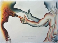 in the shadow of the handgun 2 by judy chicago