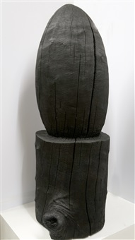 black egg and stump by david nash