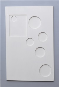 white relief (as) by ben nicholson