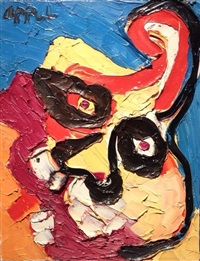 calming face by karel appel