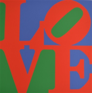 love (purple, red and green) by robert indiana