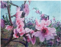 peach blossoms by zhou chunya