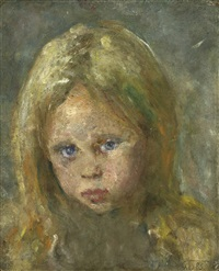 head of a girl by edvard munch