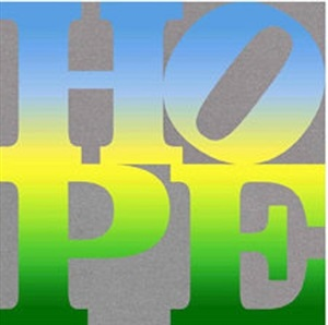 four seasons of hope book (silver), iv by robert indiana