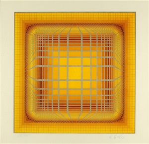 untitled silkscreen by victor vasarely