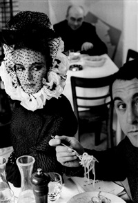 hb collections rome a (model with spaghetti) by frank horvat