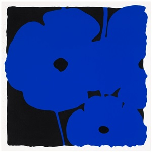 big poppies - blue by donald sultan