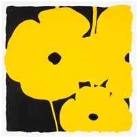 big poppies-yellow by donald sultan