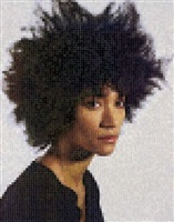 sienna (3/4 view), 2013 by chuck close
