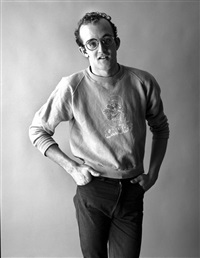 keith haring by christopher makos