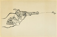 untitled (bang) by andy warhol