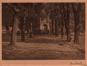 autumn: a path in prague castle gardens by josef sudek