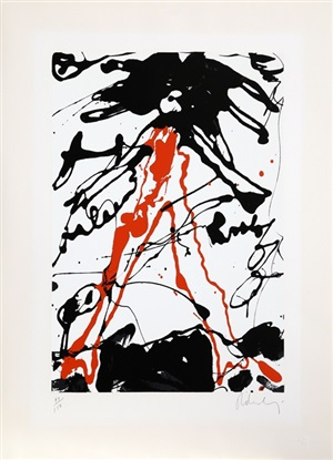 striding figure from conspiracy: the artist as witness portfolio by claes oldenburg