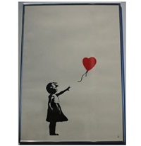 girl with red balloon by banksy