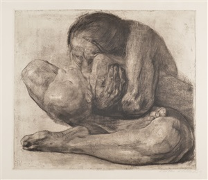woman with dead child by käthe kollwitz