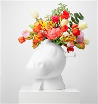 split rocker vase by jeff koons