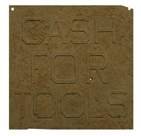 rusty signs - cash for tools 1 by ed ruscha