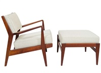 jens risom lounge chair and ottoman by jens risom