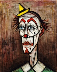 clown au petit chapeau by bernard buffet