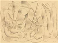 la danseuse (recto-verso) by fernand léger
