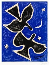 deux oiseaux (richesse de la france) by georges braque