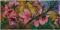 peach blossoms (detail) by zhou chunya