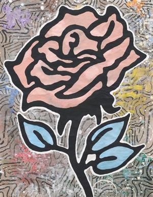 red rose by donald baechler