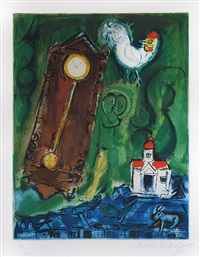 l'horloge (the clock) by marc chagall