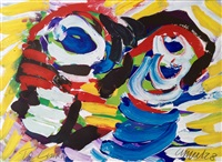 happy couple by karel appel