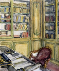 library at château du bréau by walter gay