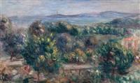 paysage du midi avec vue sur la mer by pierre-auguste renoir